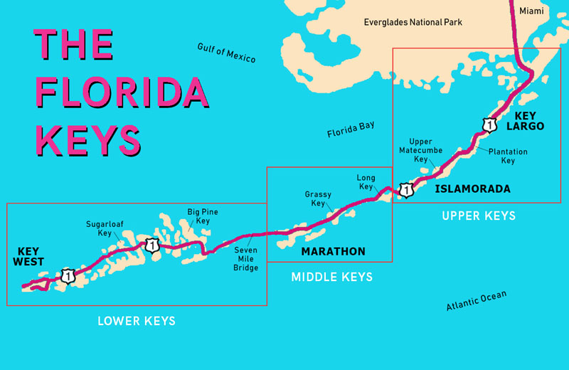 florida keys snorkeling map