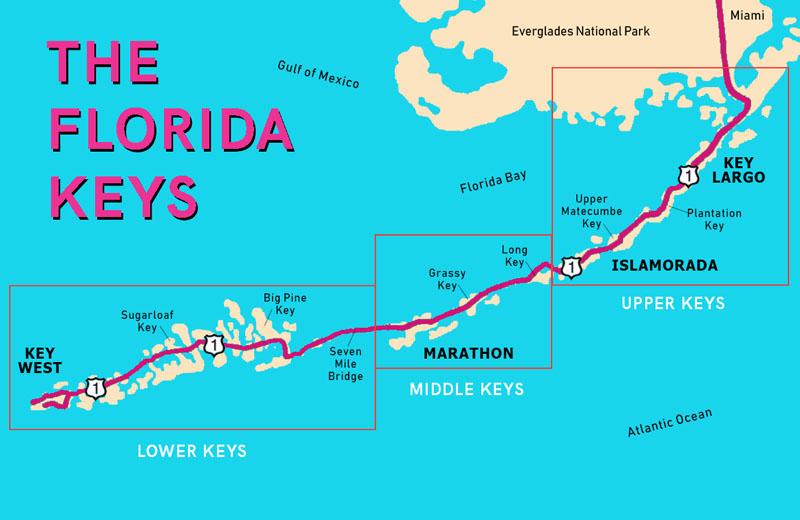 florida keys snorkeling map