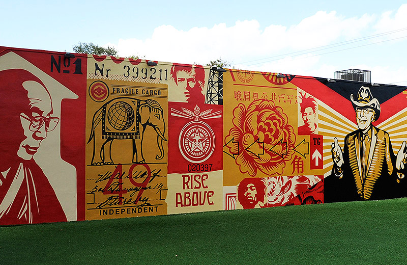 Wynwood Walls Shepard Fairey Mural